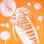 Картины и панно ручной работы. Ярмарка Мастеров - ручная работа Муркин сон: Лето. Handmade.