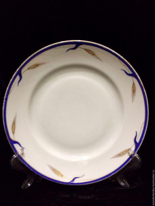 """Винтажная посуда. Ярмарка Мастеров - ручная работа. Купить 2 тарелки -легендарные """"Колоски"""" Дулево из 30х. Handmade. Комбинированный"""