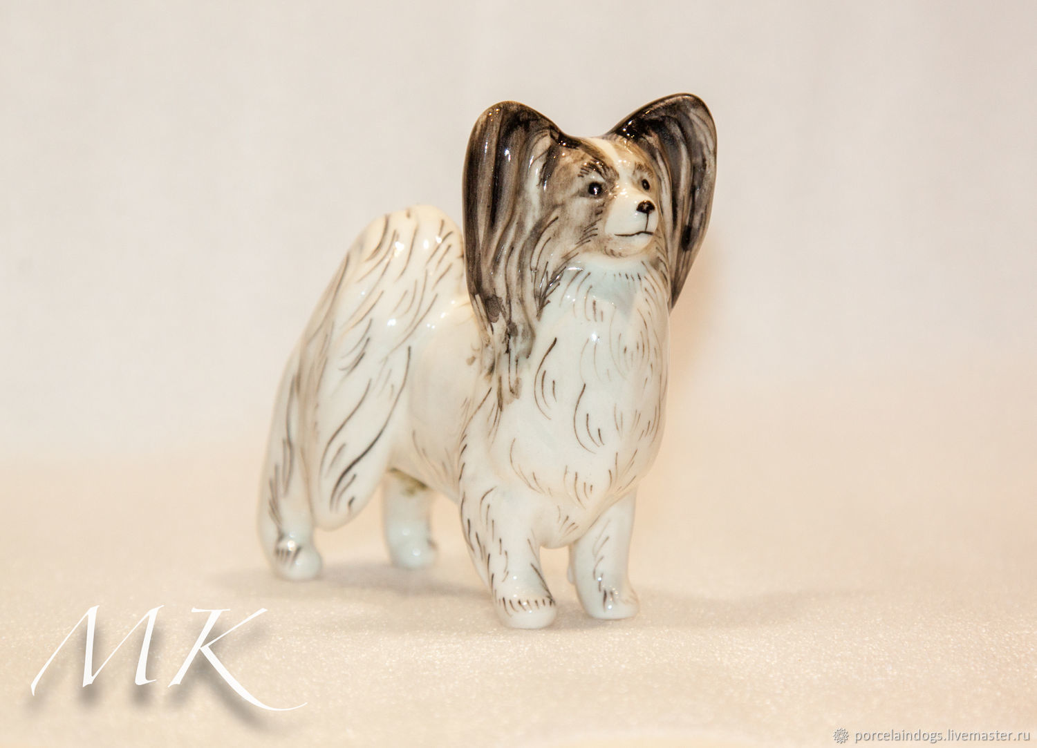 Papillon ' Black painting', Figurines, Moscow,  Фото №1