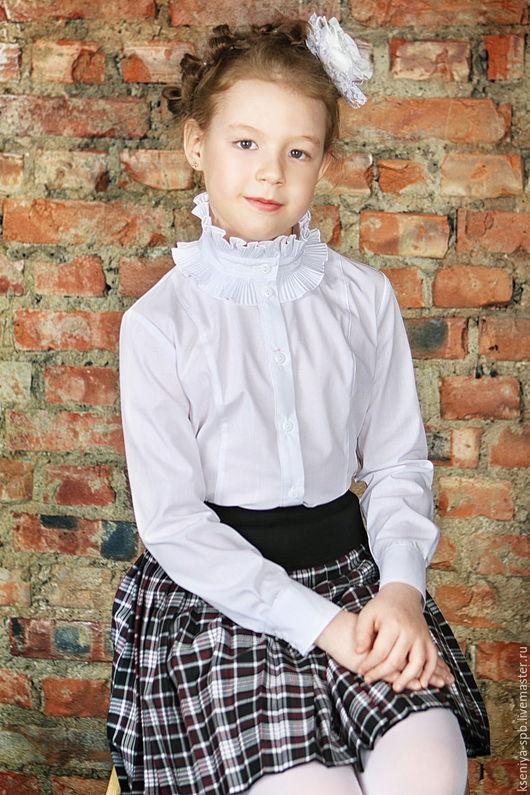 Одежда для девочек, ручной работы. Ярмарка Мастеров - ручная работа. Купить Блузка для девочки, нарядная, полнота (+) (Арт. 34/2+). Handmade.