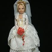 Куклы и игрушки ручной работы. Ярмарка Мастеров - ручная работа Винтажная невеста. Handmade.