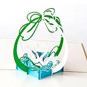 Открытки handmade. Livemaster - original item Swans - 3D handmade greeting card. Handmade.