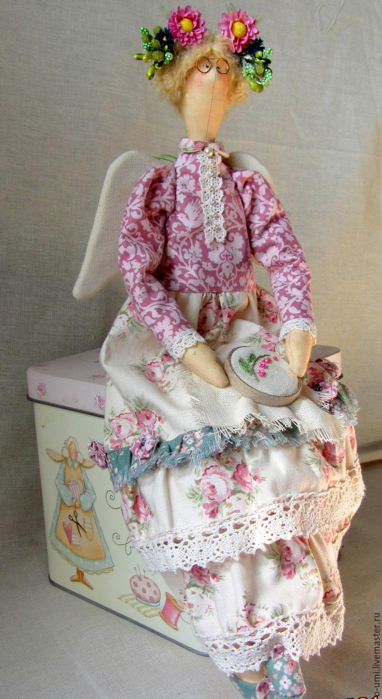 """""""Вышивальщица"""" интерьерная кукла в стиле Тильда, Тильды, Хмельницкий, Фото №1"""