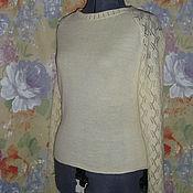 Одежда ручной работы. Ярмарка Мастеров - ручная работа блуза из шерсти Веточки. Handmade.