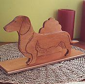 Для дома и интерьера ручной работы. Ярмарка Мастеров - ручная работа собака такса. Handmade.