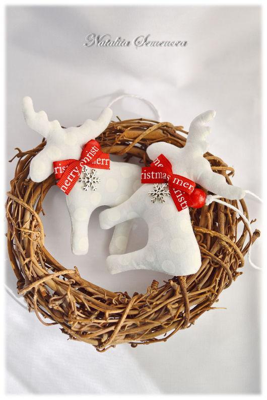 Новый год 2017 ручной работы. Ярмарка Мастеров - ручная работа. Купить Лосики новогодние игрушки на елку новый год 2017 елочные украшения. Handmade.