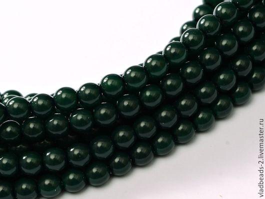 Для украшений ручной работы. Ярмарка Мастеров - ручная работа. Купить Бусины 2мм чешские стеклянные Dark Green. Handmade.
