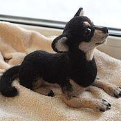 Подарки к праздникам handmade. Livemaster - original item Chihuahua. Dog toy made of wool. Handmade.