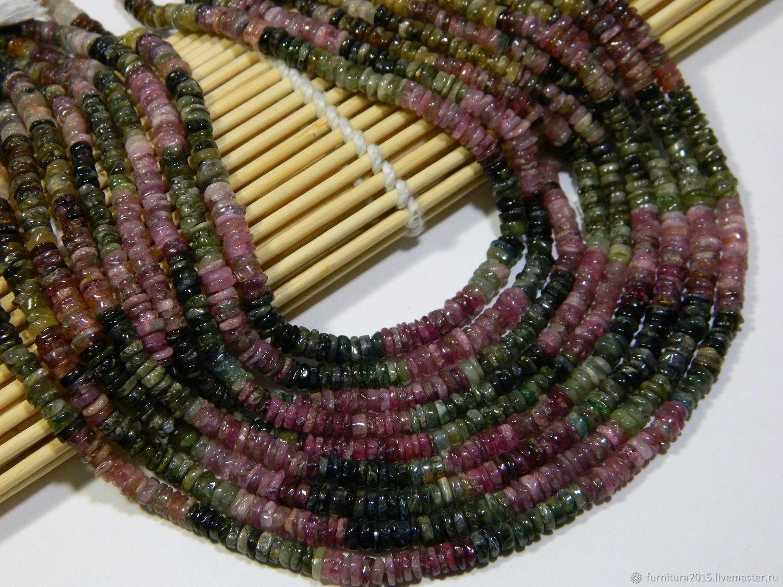 Tourmaline beads chips natural (T11). Thread, Beads1, Saratov,  Фото №1