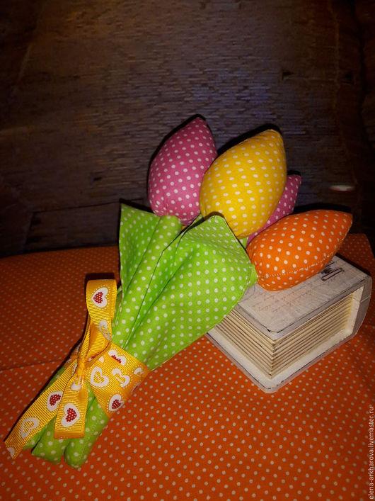 Куклы Тильды ручной работы. Ярмарка Мастеров - ручная работа. Купить Тюльпаны к 8 марта. Handmade. Комбинированный, тюльпаны