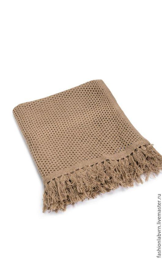 """Текстиль, ковры ручной работы. Ярмарка Мастеров - ручная работа. Купить Плед из верблюжьей шерсти с кистями """"Воздушный уют"""". Handmade."""