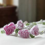 Свадебный салон handmade. Livemaster - original item a wreath on the head. tiara. Crown. Prom. Handmade.