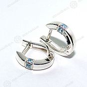 Русский стиль handmade. Livemaster - original item Earrings with stones. Handmade.