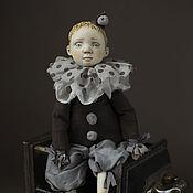 Куклы и игрушки ручной работы. Ярмарка Мастеров - ручная работа Будуарная кукла мальчик Пьеро.. Handmade.