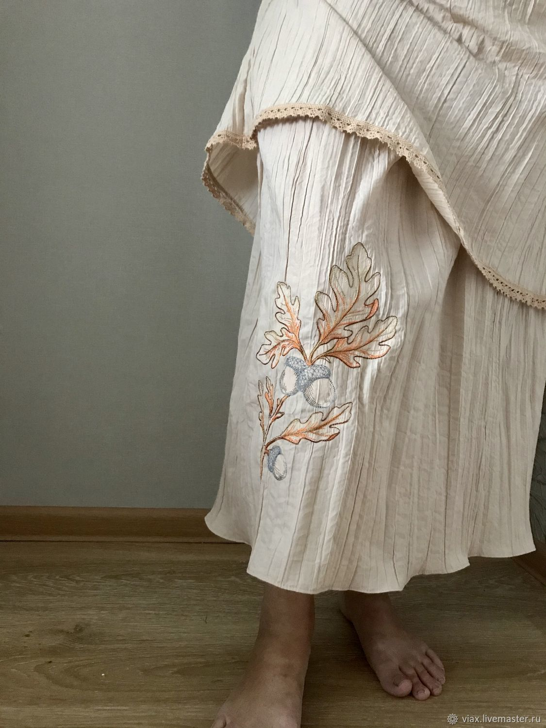 the bottom bunk boho Skirt with embroidered 'Dubcek», Skirts, Rostov-on-Don,  Фото №1