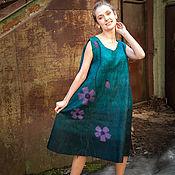 """Одежда ручной работы. Ярмарка Мастеров - ручная работа Платье-сарафан валяное """"Примула"""". Handmade."""