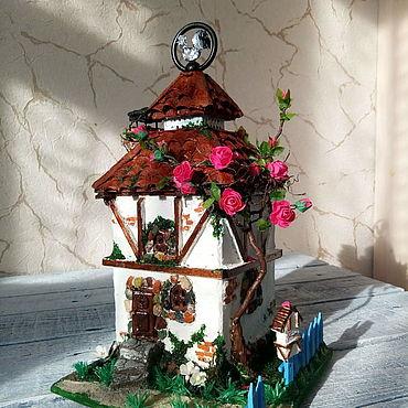 Для дома и интерьера ручной работы. Ярмарка Мастеров - ручная работа Домик светильник. Handmade.