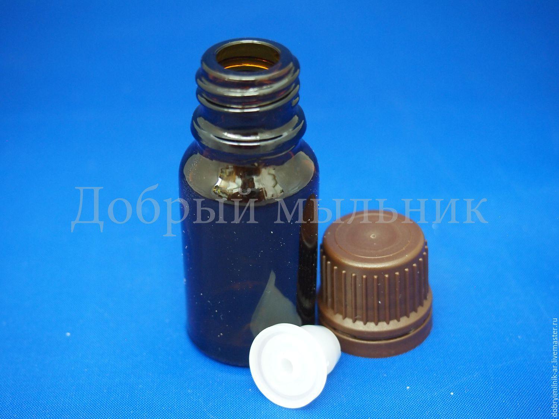 Флакон стекло коричневый 10 мл с капельницей и КПВ