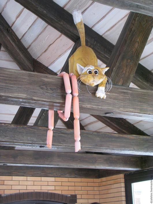Элементы интерьера ручной работы. Ярмарка Мастеров - ручная работа. Купить Рыжий кот под крышей. Handmade. Рыжий