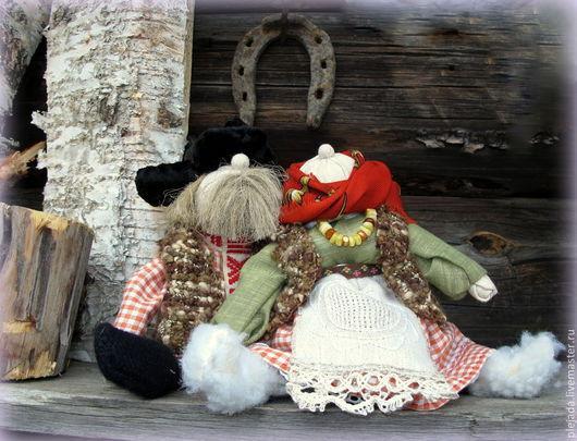 Народные куклы ручной работы. Ярмарка Мастеров - ручная работа. Купить Бабка характерная и дед характерный.. Handmade. Подарок, оберег