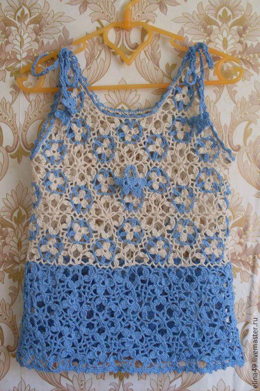 Одежда для девочек, ручной работы. Ярмарка Мастеров - ручная работа. Купить Ажурный комплект. Handmade. Разноцветный, ажурное платье