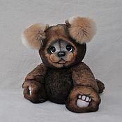 Мишки Тедди ручной работы. Ярмарка Мастеров - ручная работа Мишки Тедди: Щенок. Игрушка из натурального меха. Handmade.