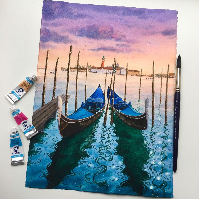 Венеция на закате, Картины, Москва,  Фото №1