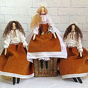 Куклы и игрушки ручной работы. Ярмарка Мастеров - ручная работа Повар и официанты - тильды для интерьера ресторана. Handmade.