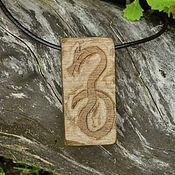 """деревянная подвеска """"Рунический змей 2"""""""