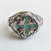 Украшения handmade. Livemaster - original item Silver ring with green agate