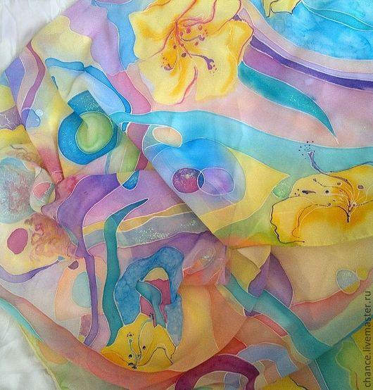 """Шарфы и шарфики ручной работы. Ярмарка Мастеров - ручная работа. Купить Шарф """"Счастье"""". Handmade. Абстрактный, пастельные тона"""