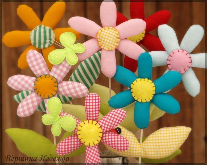 Цветы из текстиля своими руками мастер класс