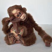 Куклы и игрушки ручной работы. Ярмарка Мастеров - ручная работа обезьянка символ 2016 года. Handmade.