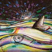 Картины ручной работы. Ярмарка Мастеров - ручная работа Картины: Море и его обитатели. Handmade.