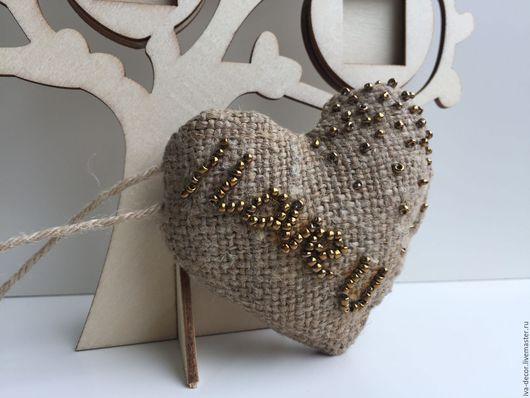 Брелоки ручной работы. Ярмарка Мастеров - ручная работа. Купить Сердечко валентинка, текстильное, день святого Валентина, подвеска. Handmade.