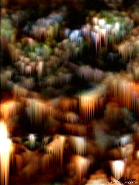 Ночной южный город, Шаблоны для печати, Нижний Новгород,  Фото №1