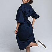 Одежда handmade. Livemaster - original item Shirt dress with puffy sleeves.. Handmade.