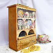 Для дома и интерьера ручной работы. Ярмарка Мастеров - ручная работа Чайный домик-буфетик Цветочное чаепитие. Handmade.