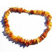 Украшения handmade. Livemaster - original item Amber beads Honey raw amber 45 cm. Handmade.
