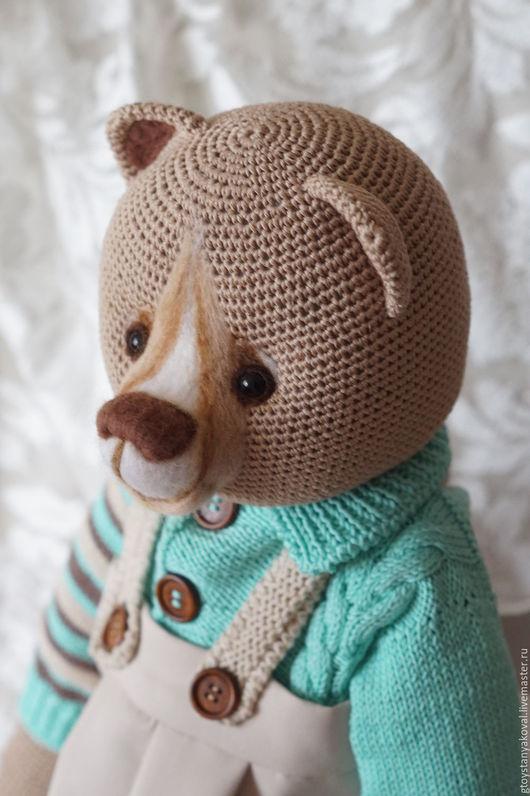 Мишки Тедди ручной работы. Ярмарка Мастеров - ручная работа. Купить Андрей фон Медведеff, вязанный мишка в одежде. Handmade.