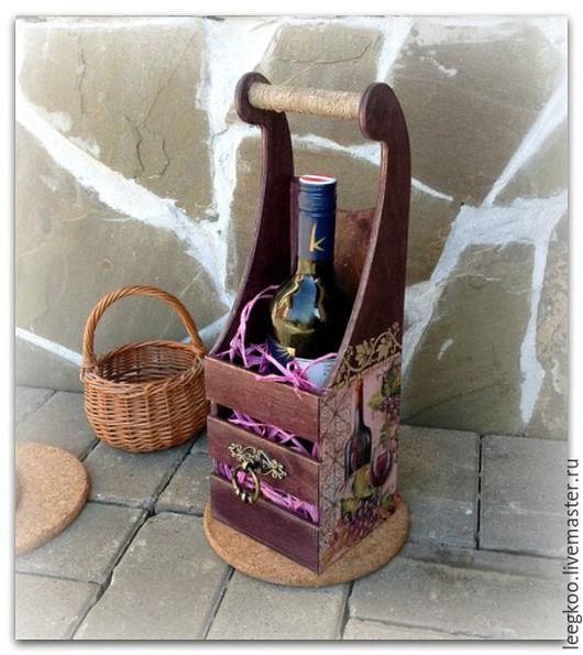 Кухня ручной работы. Ярмарка Мастеров - ручная работа. Купить Короб для спиртных напитков. Handmade. Коричневый, короб для кухни