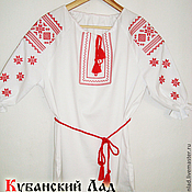 "Одежда handmade. Livemaster - original item Народная вышитая льняная блуза ""Алатырь"". Handmade."