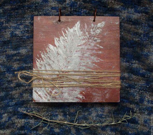 Фотоальбомы ручной работы. Ярмарка Мастеров - ручная работа. Купить Альбом для гербария ''Листы и травы''. Handmade. Дерево, деревянный блокнот