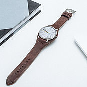 Украшения handmade. Livemaster - original item A copy of the work Watchband leather Bund / Strap. Handmade.