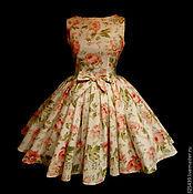 """Одежда ручной работы. Ярмарка Мастеров - ручная работа Платье """"Розы летние"""" очень пышное. Handmade."""