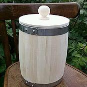 Русский стиль ручной работы. Ярмарка Мастеров - ручная работа Бочонок липовый для мёда и сыпучих продуктов 5л. Handmade.