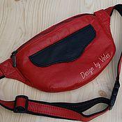 Сумки и аксессуары handmade. Livemaster - original item waist bag genuine leather. Handmade.