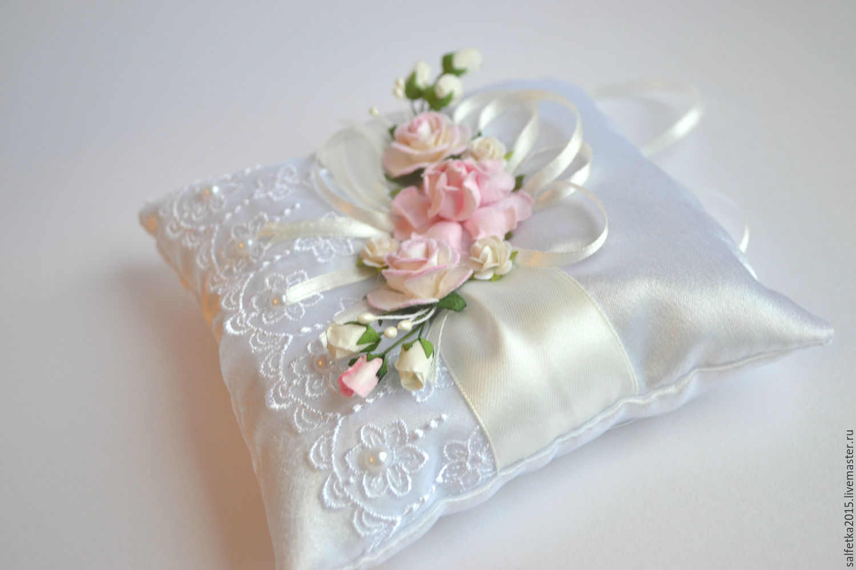 Подушечка для колец на свадьбу своими руками пошагово фото