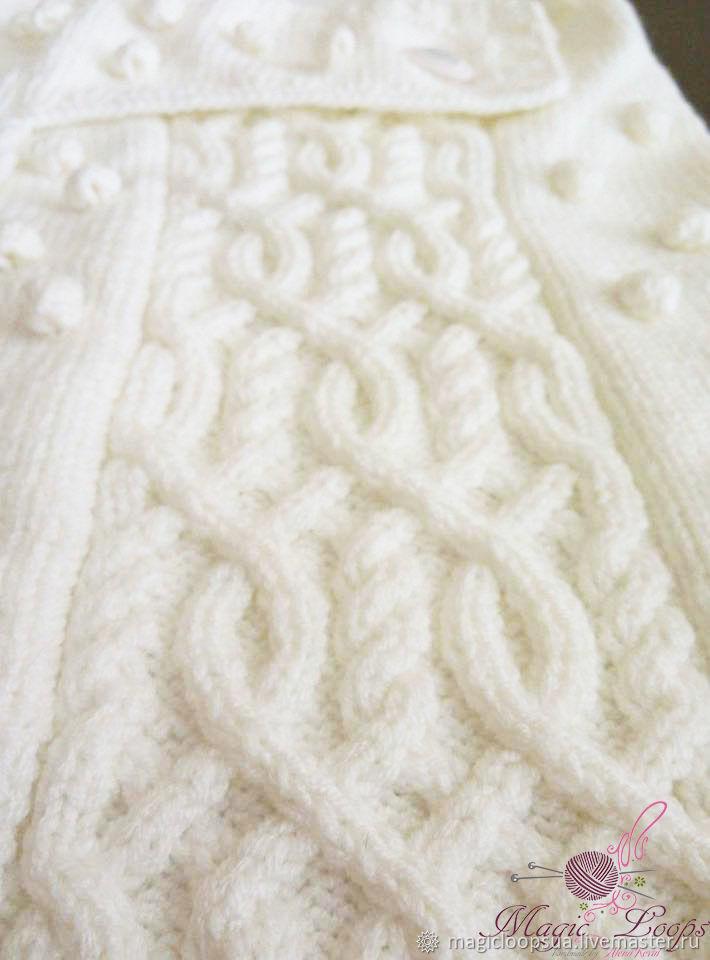 Suave y cálido sobre - capullo para recién nacidos con el patrón de ...