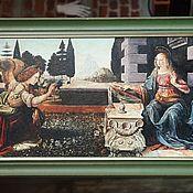 Картины и панно handmade. Livemaster - original item Oil painting the Annunciation by Leonardo da Vinci. Hand copy.110h50cm. Handmade.
